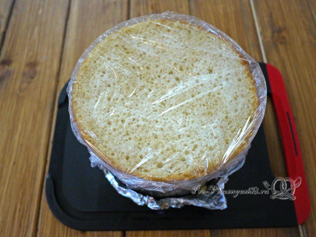Торт «Ангел» - накрываем торт пленкой в контакт
