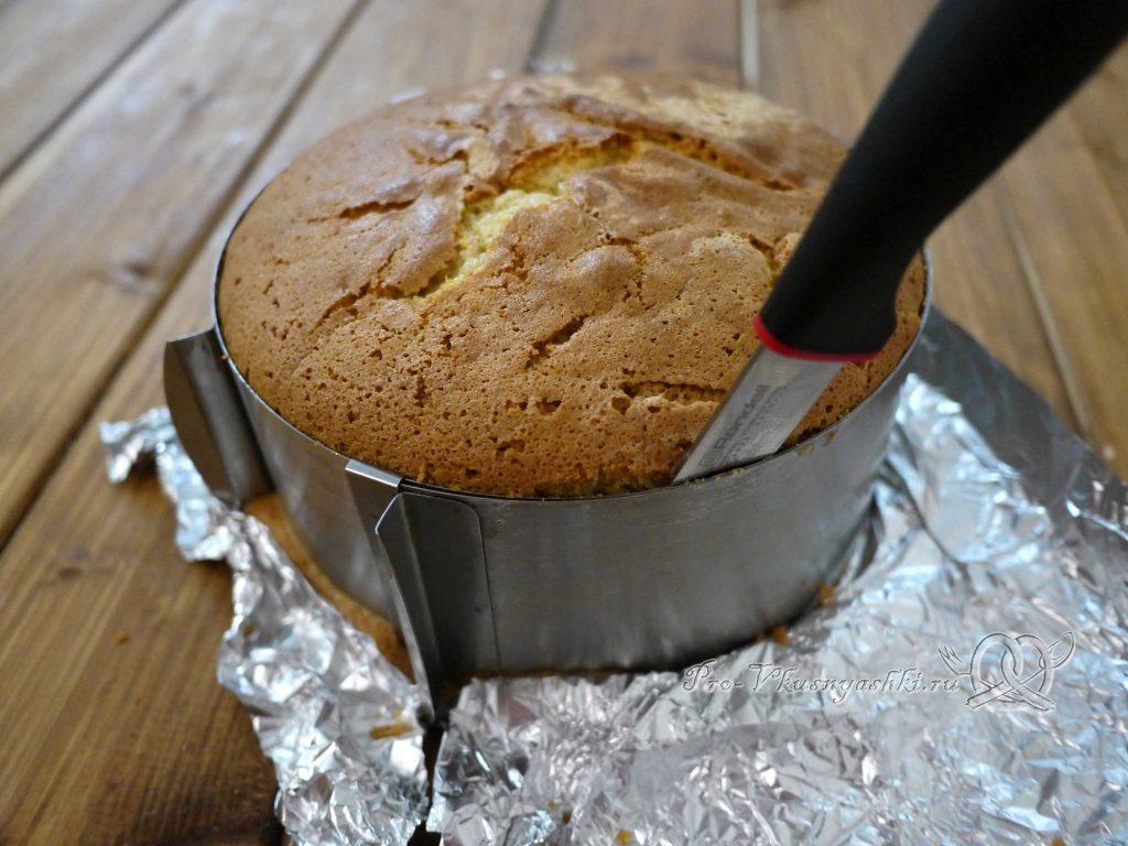 Торт «Ангел» - отделяем бисквит от формы