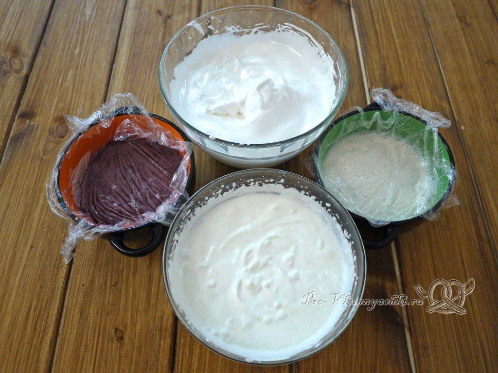 Торт «Ангел» - подготовленные ингредиенты для муссов