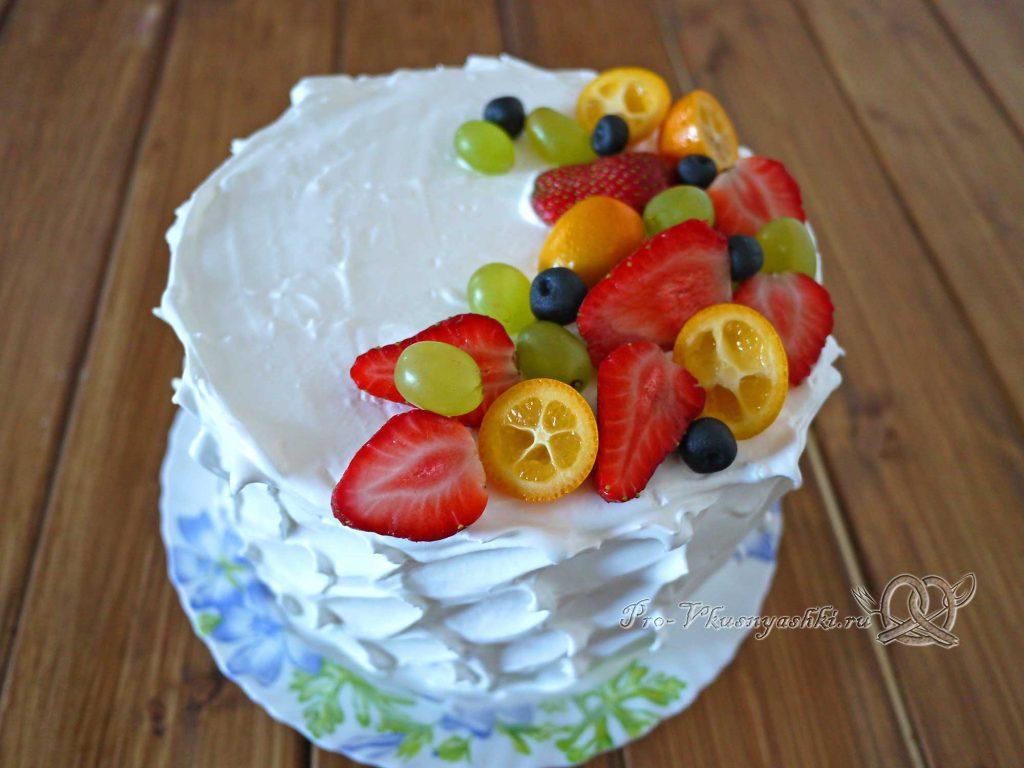 Торт «Ангел» - украшаем торт ягодами и фруктами