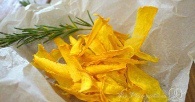 Тыквенные чипсы в духовке - подача