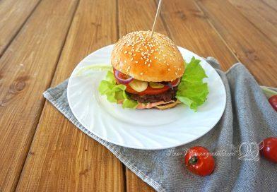 Гамбургер в домашних условиях - подача