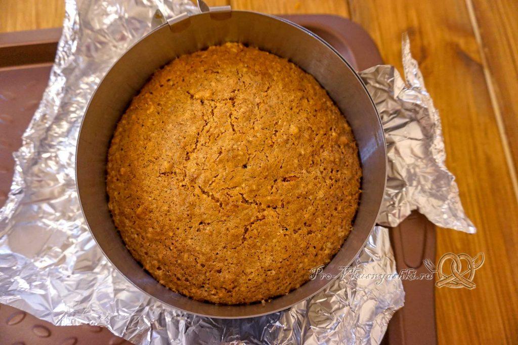 Морковный торт с апельсиновым курдом и кремом «Пломбир» - готовый бисквит