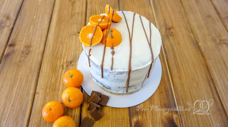Морковный торт с апельсиновым курдом и кремом «Пломбир» - готовый торт