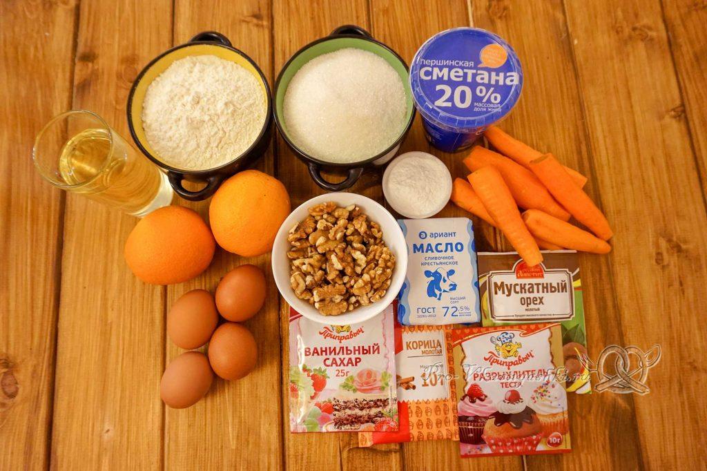 Морковный торт с апельсиновым курдом и кремом «Пломбир» - ингредиенты
