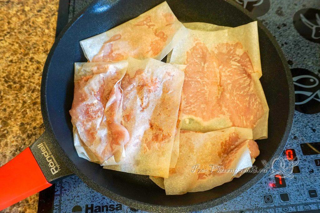 Сэндвич с индейкой, Гуакамоле и плавленым сыром - обжариваем индейку