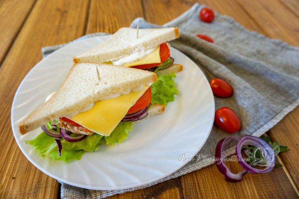 Сэндвич с индейкой, Гуакамоле и плавленым сыром - подача