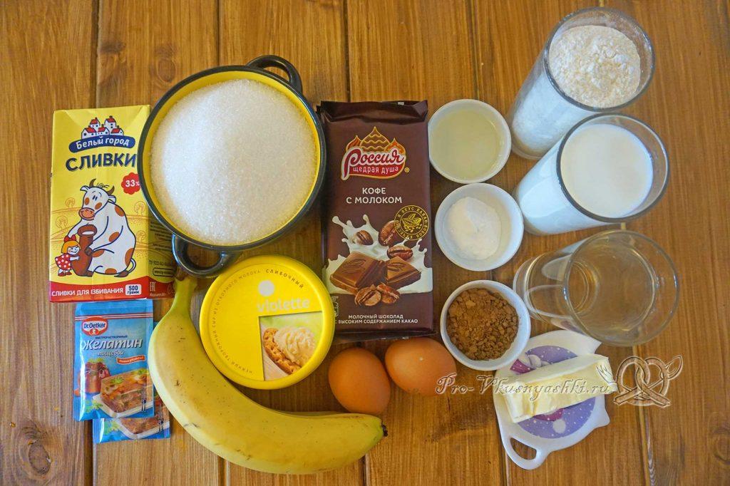 Торт «Банановый остров» - ингредиенты