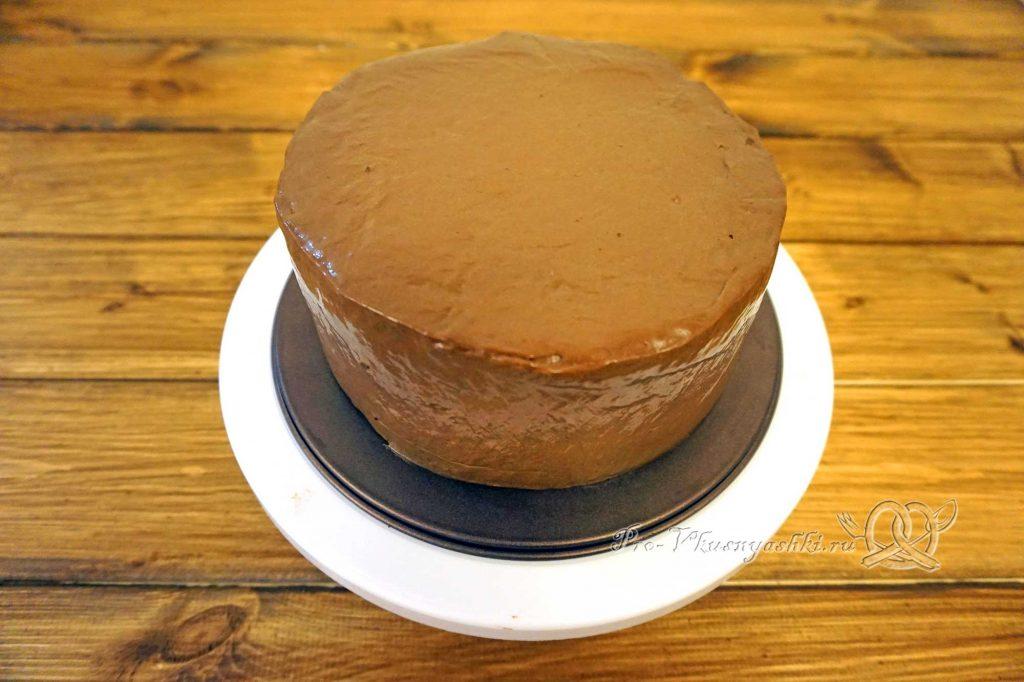 Торт «Банановый остров» - покрываем торт ганашем