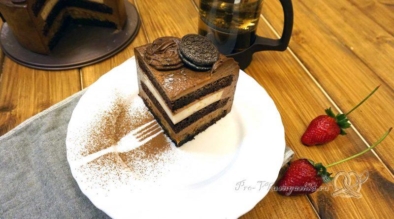 Торт «Банановый остров» - торт в разрезе