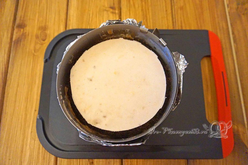 Торт «Банановый остров» - выкладываем чизкейк