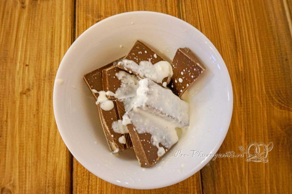 Торт «Молочная девочка» - смешиваем ингредиенты ганаша