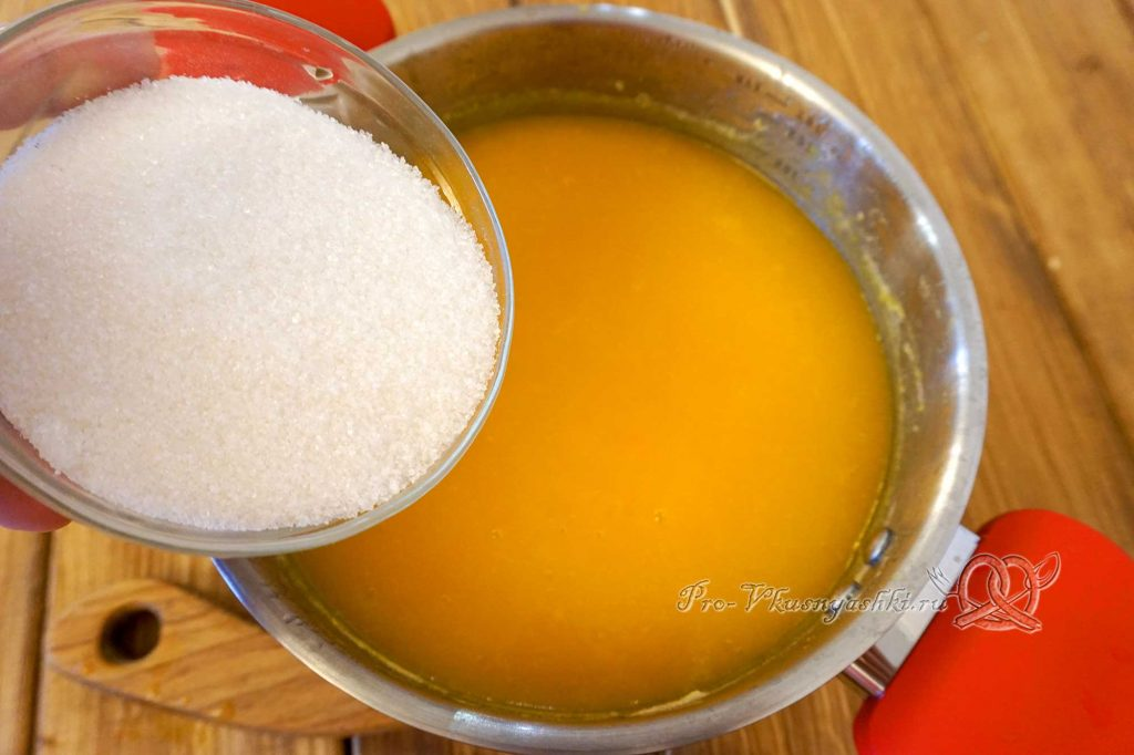 Тыквенный сок в домашних условиях - добавляем сахар
