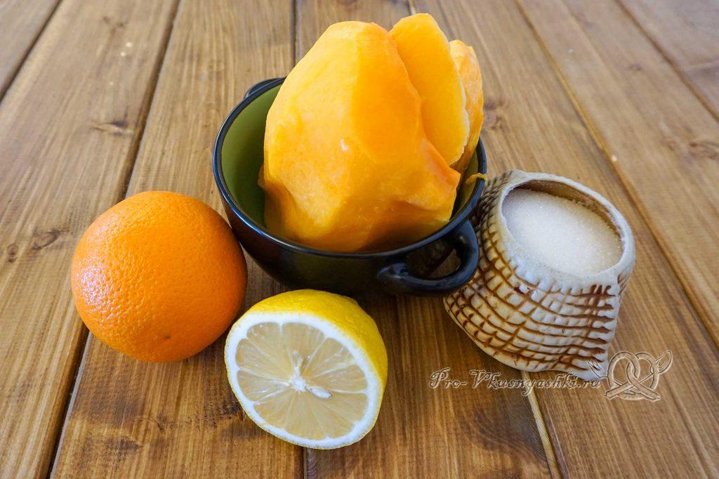 Тыквенный сок в домашних условиях - ингредиенты