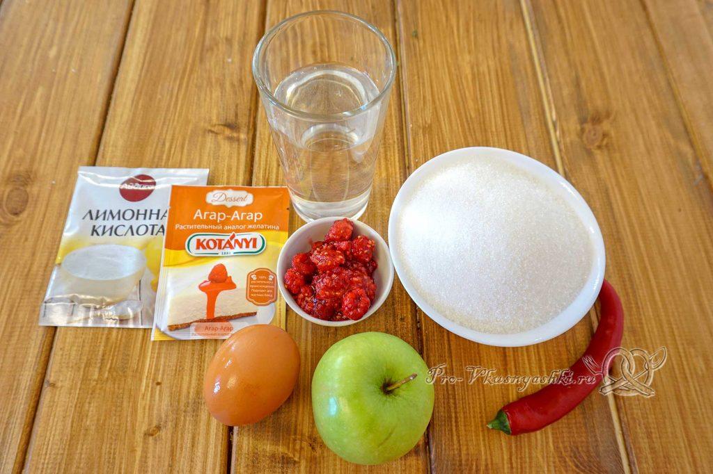 Домашний зефир с малиной и острым перцем - ингредиенты