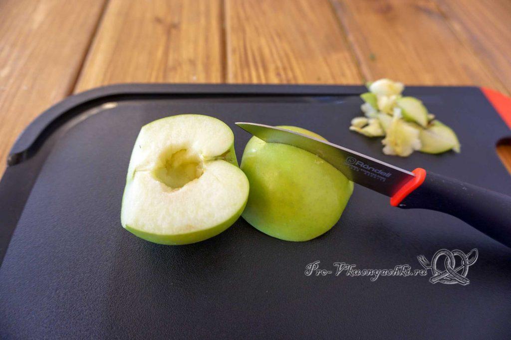 Домашний зефир с малиной и острым перцем - подготовка яблок