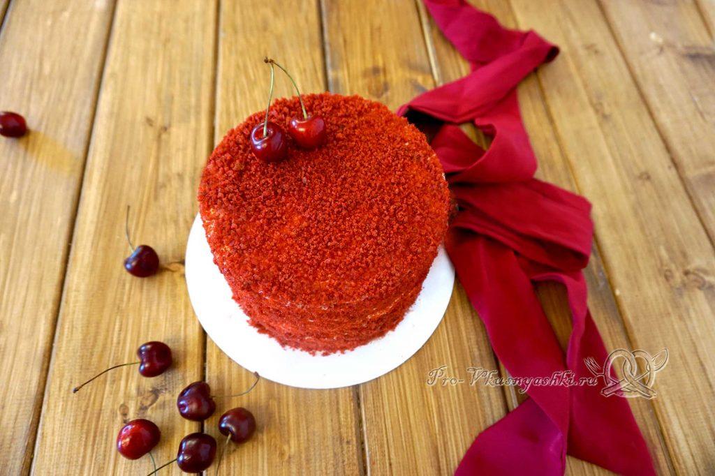Торт «Красный бархат» - готовый торт