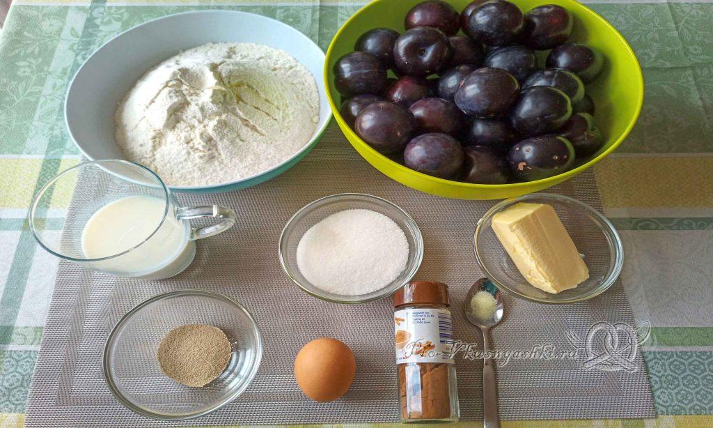 Баварский сливовый пирог - ингредиенты