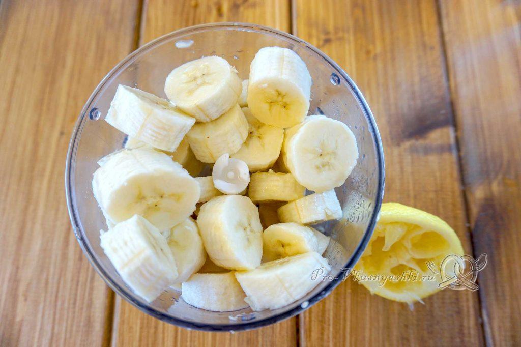 Фруктовый лед в домашних условиях - нарезаем бананы
