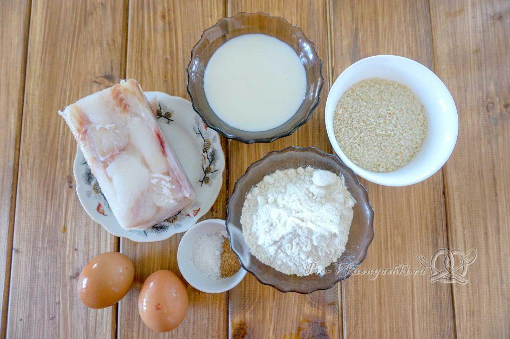 Минтай в кляре на сковороде - ингредиенты