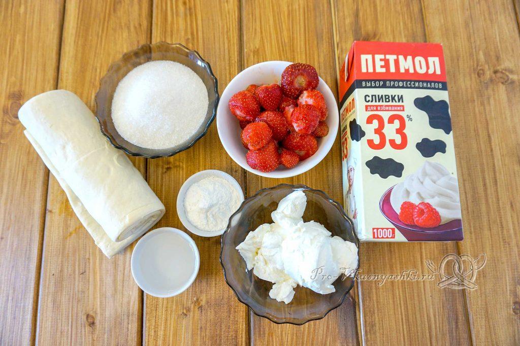 Торт Мильфей - ингредиенты