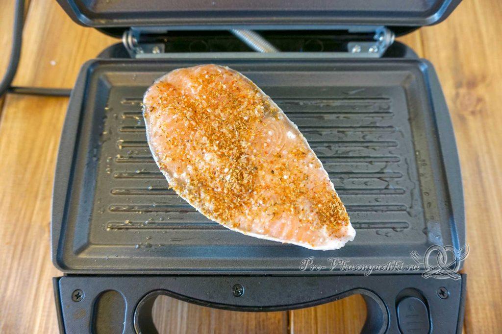 Стейк из семги на гриле - жарим рыбу