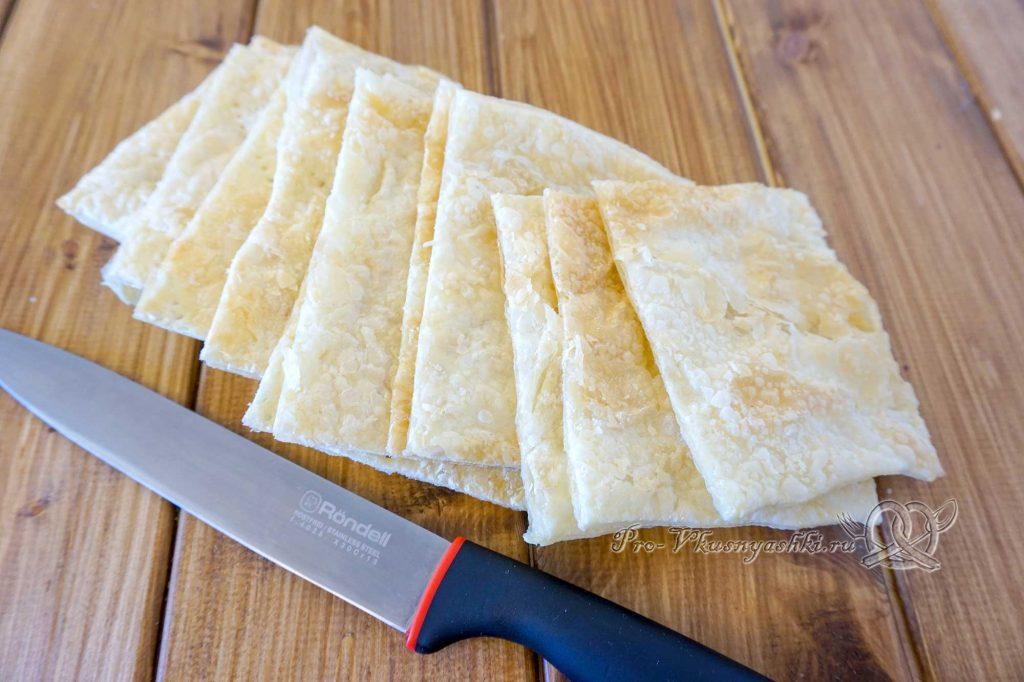 Торт Мильфей - нарезаем корж