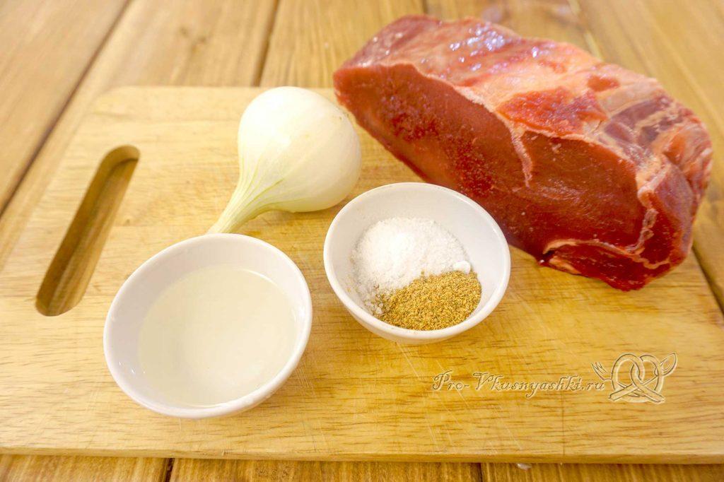Стейк из говядины на сковороде гриль - ингредиенты