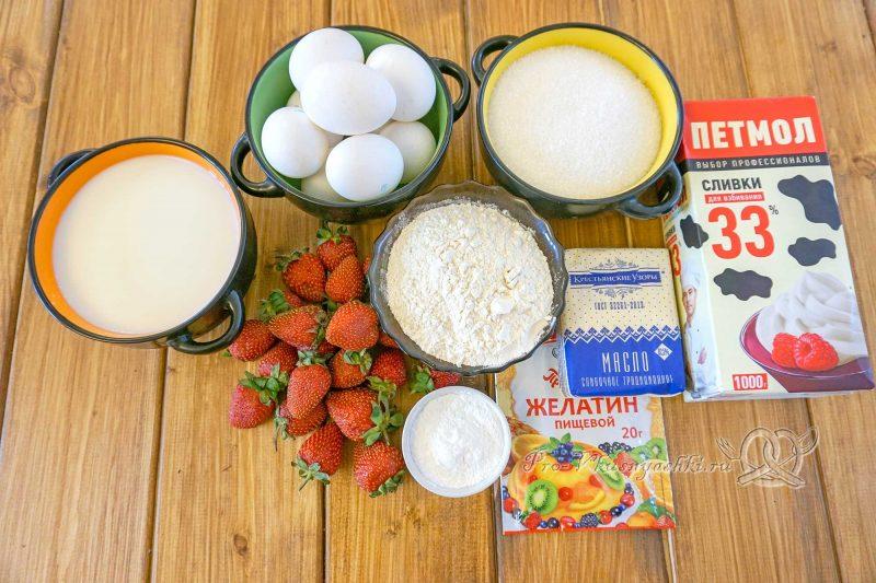 Торт Фрезье с клубникой - ингредиенты