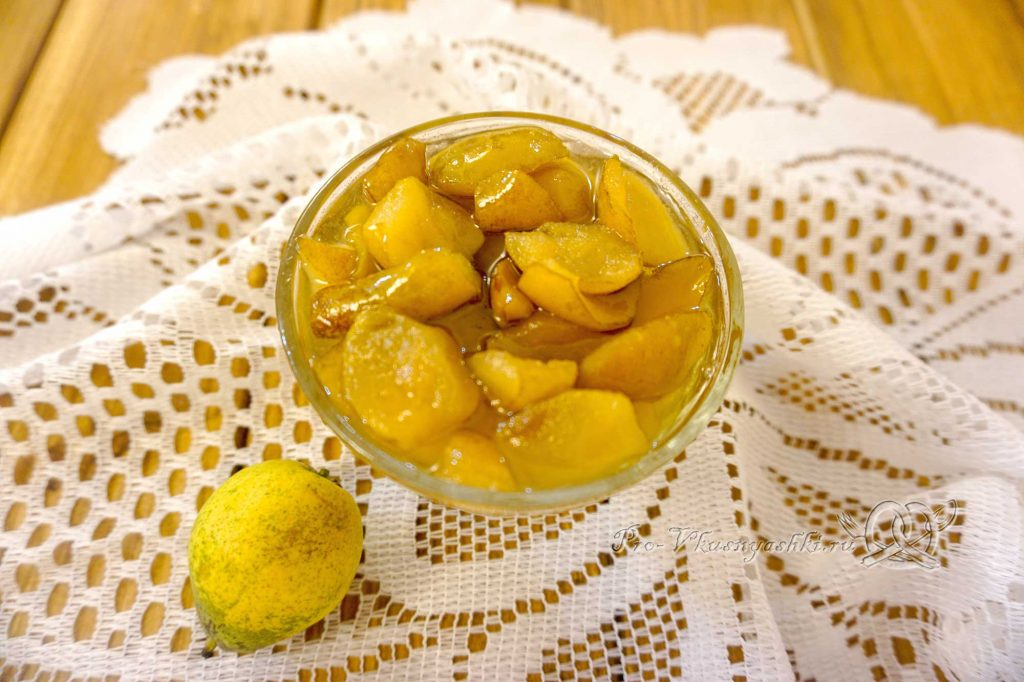 Варенье из груш на зиму - подача