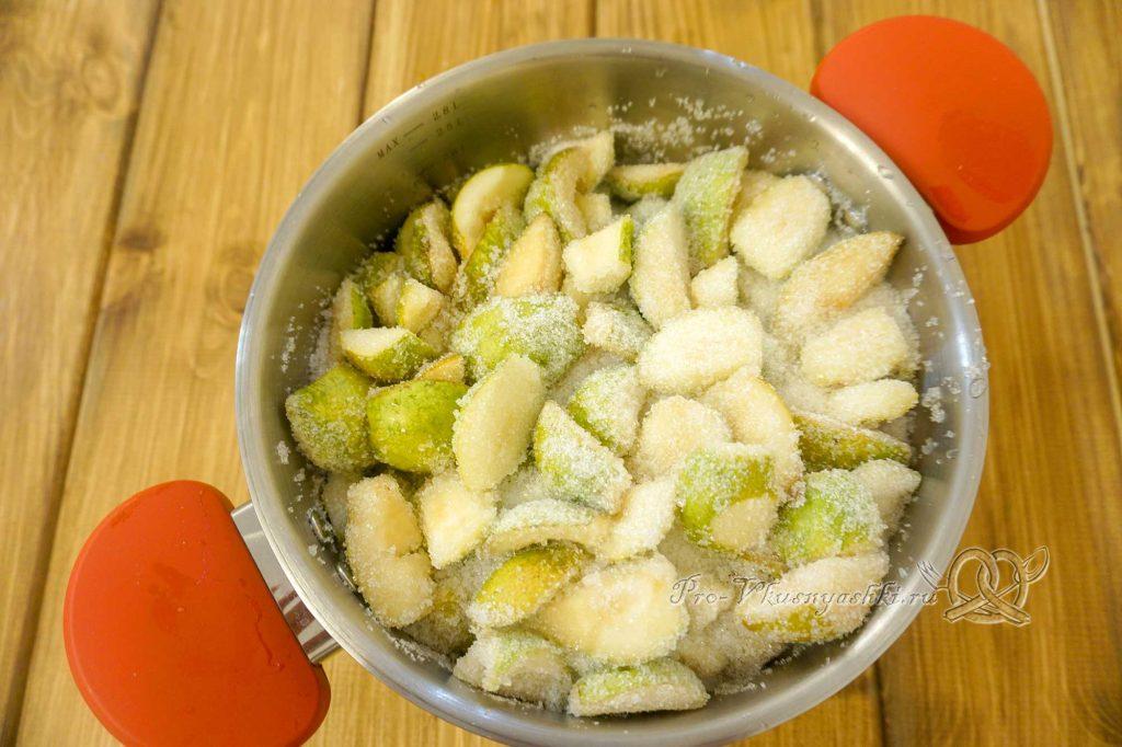 Варенье из груш на зиму - засыпаем груши сахаром