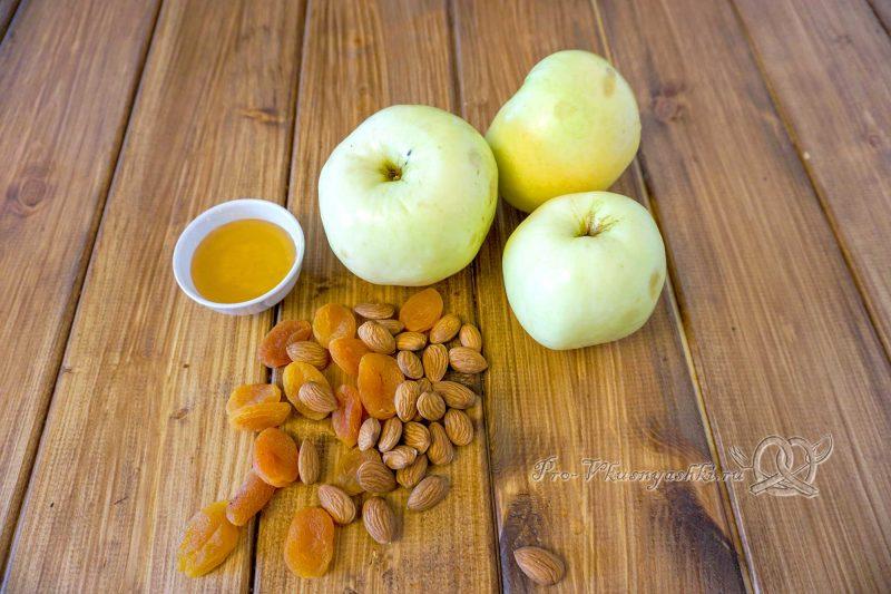 Фаршированные яблоки в духовке - ингредиенты