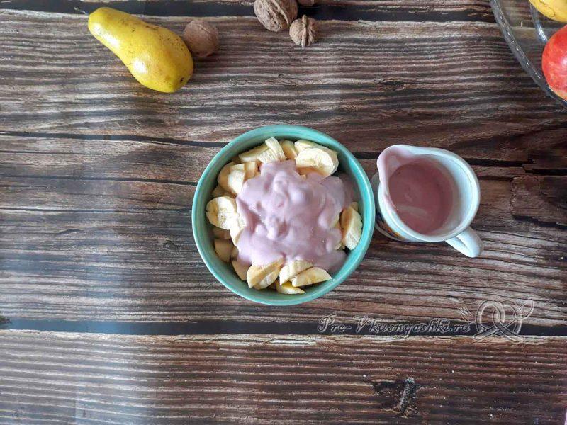 Фруктовый салат с йогуртом - добавляем йогурт