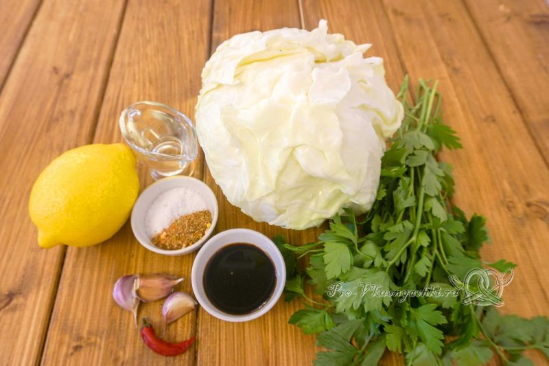 Капуста на сковороде гриль - ингредиенты