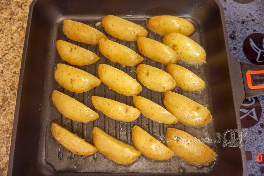 Картофель на сковороде гриль - обжариваем картофель