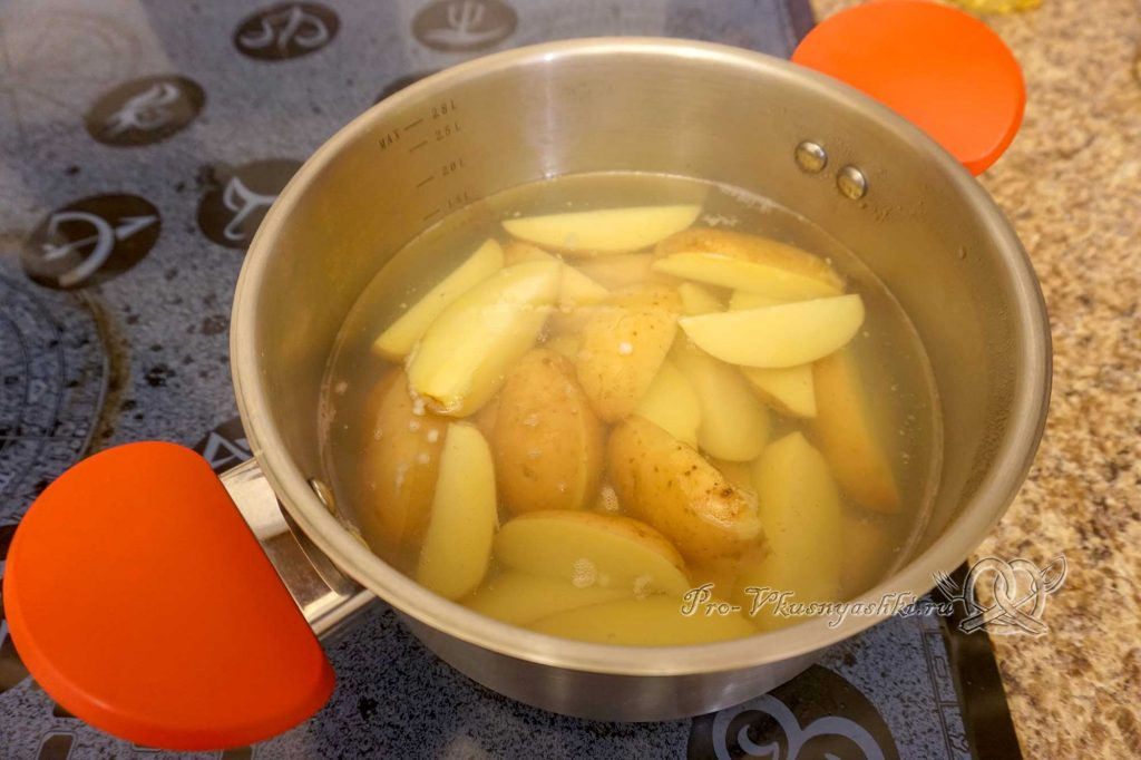 Картофель на сковороде гриль - варим картофель