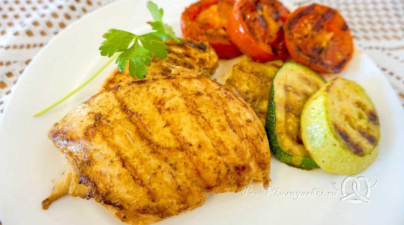 Курица на сковороде гриль - готовое блюдо