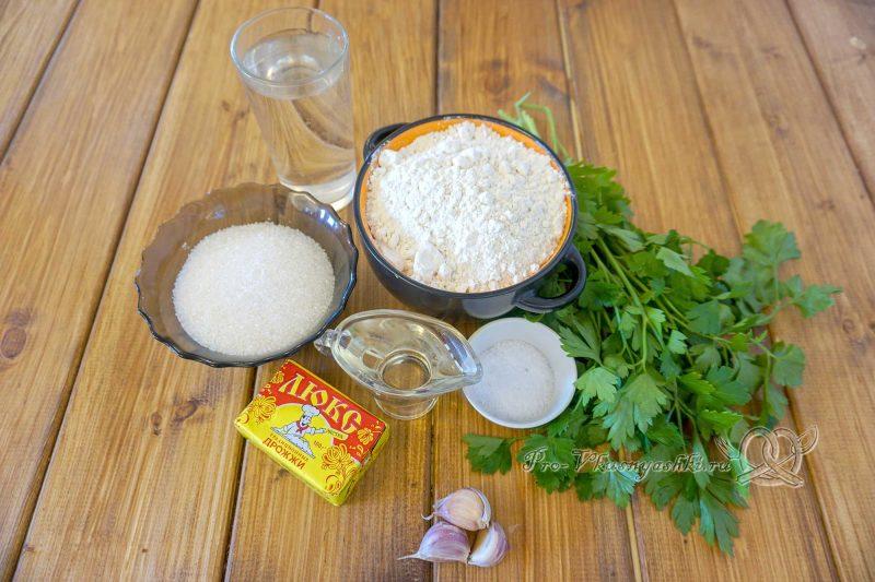 Пампушки с чесноком к борщу - ингредиенты