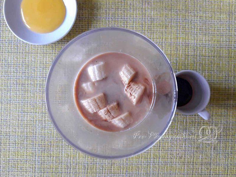 Смузи с бананом и молоком - добавляем кофе