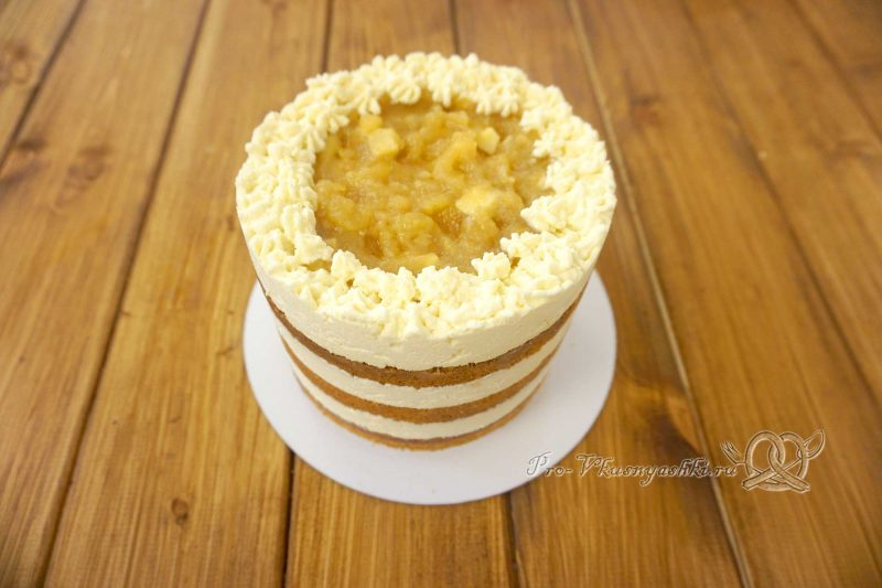 Торт с яблоками и белым шоколадом - собираем торт