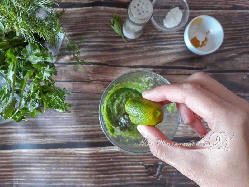 Зеленый смузи для похудения - добавляем лимонный сок