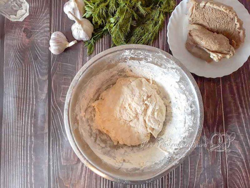 Чеченские галушки с мясом - тесто