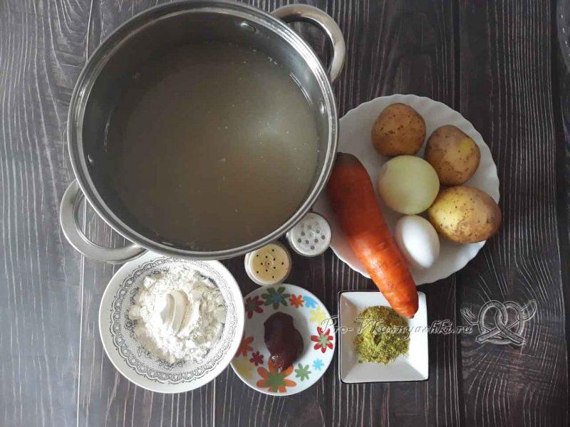 Суп с клецками - ингредиенты