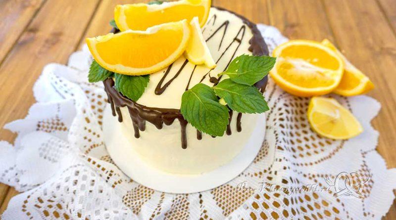 Торт с лимонами и апельсинами - украшаем торт