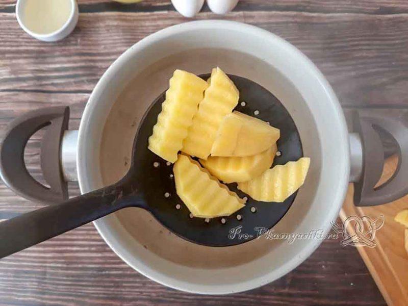 Украинские галушки - варим картофель