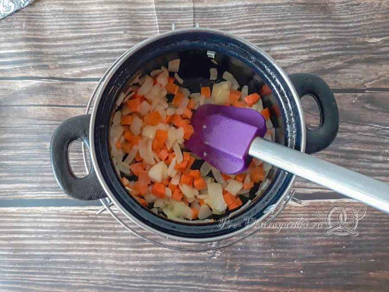 Крем-суп из цветной капусты со сливками - зажарка