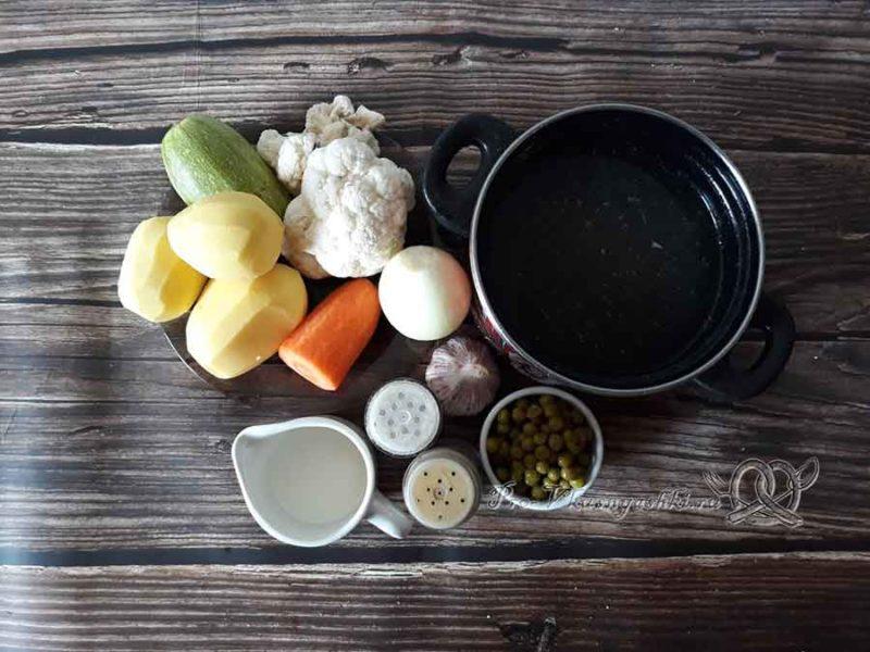 Овощной крем-суп со сливками - ингредиенты