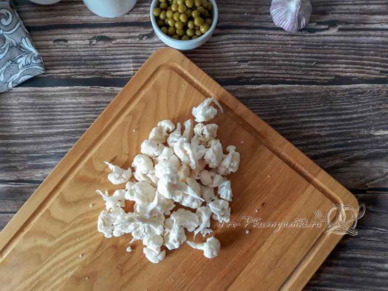 Овощной крем-суп со сливками - разбираем капусту на соцветия