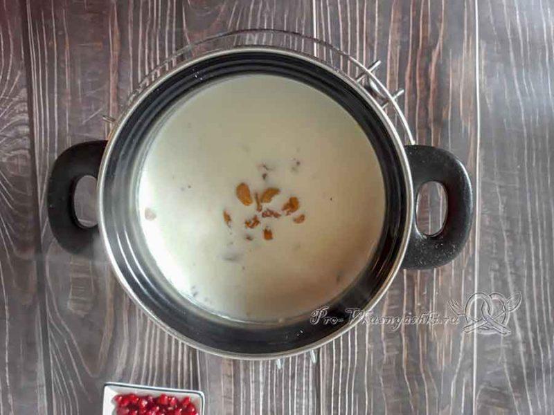 Пшенная каша на молоке - добавляем изюм в кашу