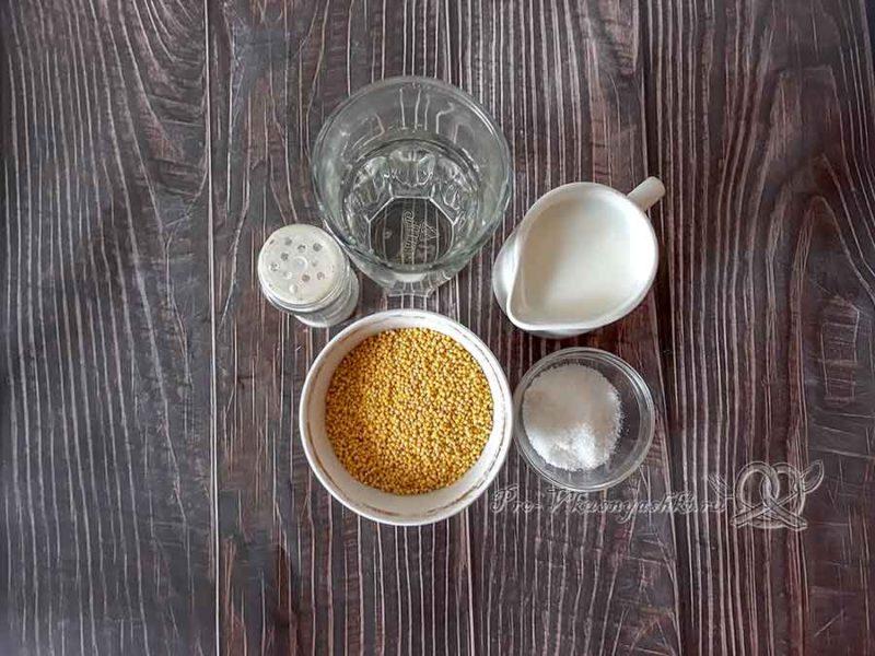 Пшенная каша на молоке - ингредиенты